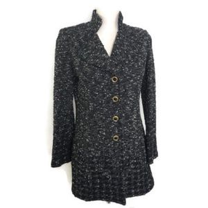 St. John Collection Boucle Tweed Jacket Size 4